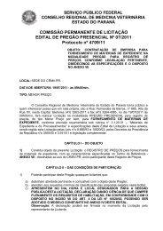 serviço público federal conselho regional de medicina ... - CRMV-PR