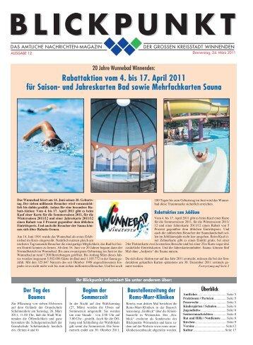 Blickpunkt Ausgabe 12-2011.pdf - Stadt Winnenden