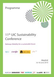 Programme - The 12th UIC Sustainability Conference