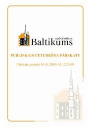 Finanšu rādītāji par 2009.gada 4. ceturksni - Baltikums
