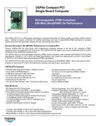 USPIIe Compact PCI Single Board Computer - Themis Computer