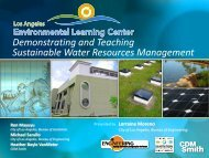 Demonstrating and Teaching Sustainable Water Resources ...
