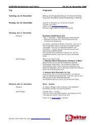 Elektor Reis naar China November 2008