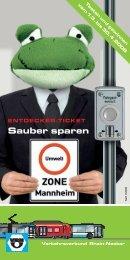Informationsbroschüre Entdecker-Ticket Umweltzone Mannheim