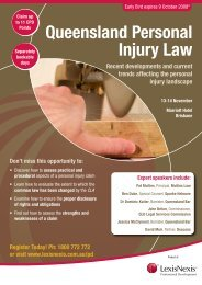 Queensland Personal Injury Law - LexisNexis