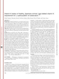 Vitamin K status of healthy Japanese women: age-related vitamin K ...