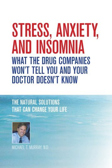 StreSS, Anxiety, And inSomniA - Dr. Michael Murray