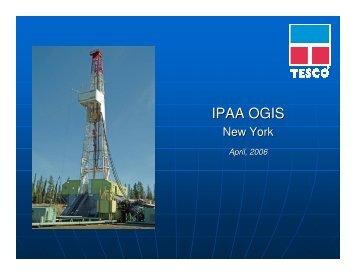 IPAA OGIS - TESCO Corporation
