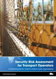 Security Risk Assessment for Transport Operators - Department of ...
