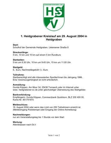1. Heidgrabener Kreislauf am 29. August 2004 in Heidgraben