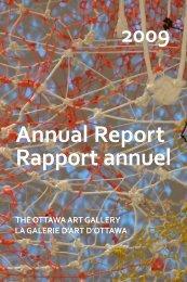 Annual Report 2009 - Ottawa Art Gallery