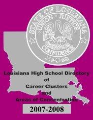 Career Cluster - Louisiana Department of Education