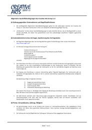 Allgemeine Geschäftsbedingungen des Creative Arts Group e.V. §1 ...
