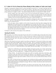 6. 1 John 4:1-6 of a Verse by Verse Study of the ... - Gospel Lessons