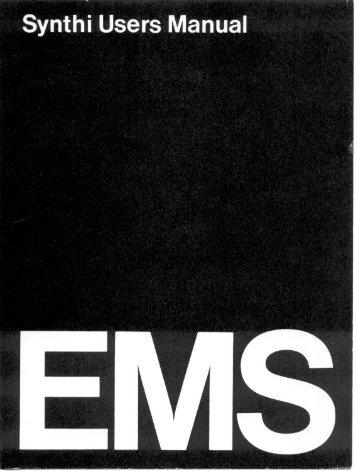 EMS Synthi User Manual - Lojinx