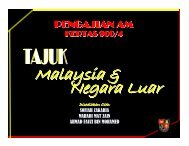 Penglibatan & Sumbangan Malaysia 1