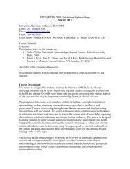 FDNS(EPID) 7040: Nutritional Epidemiology