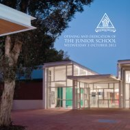 THE JUNIOR SCHOOL - Trinity Grammar School