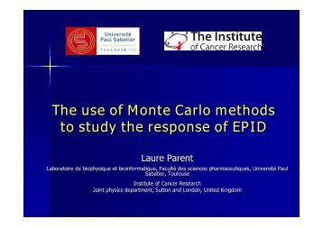 The use of Monte Carlo methods to study the response of EPID