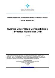 Syringe Driver Drug Compatibilities - Palliative Care Victoria ...
