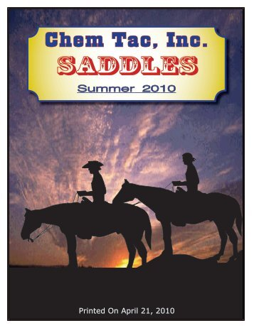 Saddles - Chem Tac, Inc.