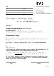 Zulassungsantrag HWK Düsseldorf (PDF)