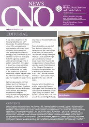 CNO Newsletter March 2011 - Department of Health, Social ...