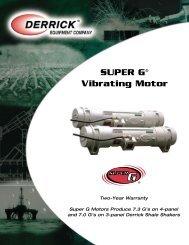 SUPER G® Vibrating Motor - Derrick Equipment Company