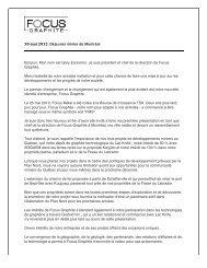 Page 1 30 mai 2012: Déjeuner minier de Montréal Bonjour. Mon ...