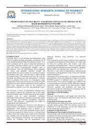 improvement of solubility and dissolution rate of piroxicam by solid ...