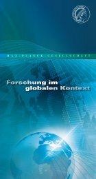 Forschung im globalen Kontext - Max-Planck-Gesellschaft