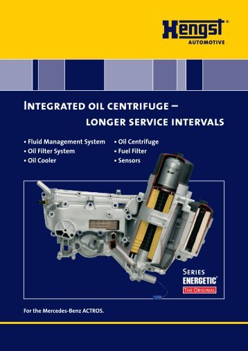 Integrated oil centrifuge - Hengst GmbH & Co. KG