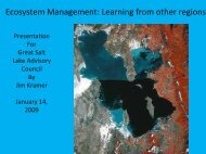 Ecosystem Management: Learning from Other Regions: Jim Kramer