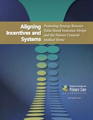 Aligning Incentives and Systems - About Medical Home - Patient ...