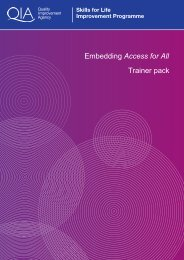 Access for all Trainer Pack - Skills for Life Improvement Programme