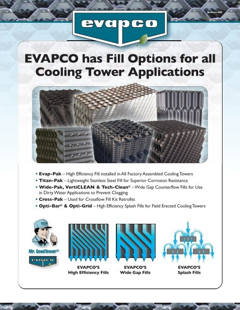 Evapco Has Fill Options For All Cooling Tower Evapco Com