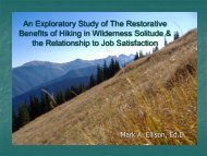 An Exploratory Study of The Restorative Benefits of Hiking in ...