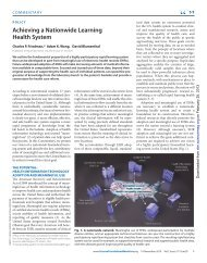 Friedman C, et al. Achieving a Nationwide Learning Health System ...