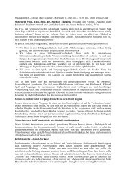 Statement Prim. Univ.-Prof. Dr. Michael Musalek, Präsident des ...