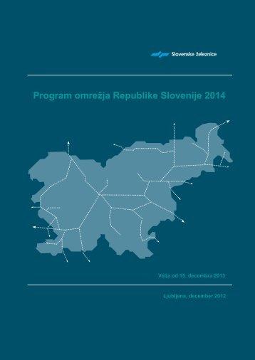 Program omrežja RS 2014 - Slovenske železnice