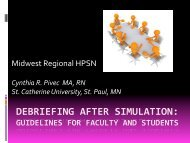 debriefing after simulation - Human Patient Simulation Network