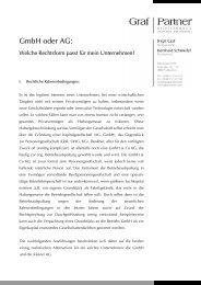 GmbH oder AG: - Rechtsanwälte Graf & Partner