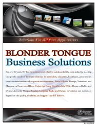 Business Solutions Bifold - Blonder Tongue Laboratories Inc.