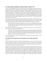 9. In the Power and Name of Jesus Christ: Acts 4:1 ... - Gospel Lessons