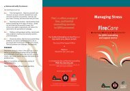 Firecare: Managing Stress - Queensland Fire and Rescue Service