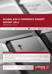 GLOBAL B2C E-COMMERCE MARKET REPORT 2013 - yStats.com