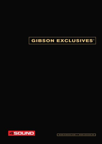 4Sound Gibson Exclusives