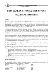 faq, explanations & situations trampoline gymnastics - FIG