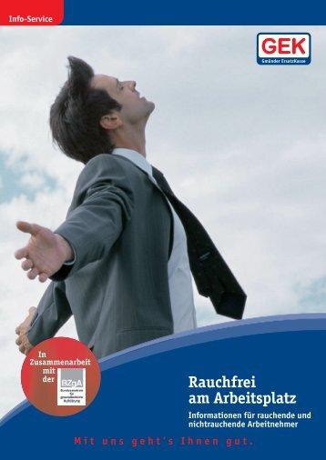 Rauchfrei am Arbeitsplatz - Unser Betrieb macht rauchfrei!