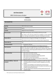 Job Description WRU Performance Analyst - Welsh Rugby Union